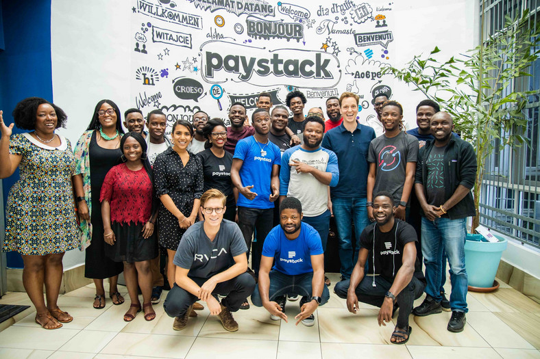 Nat Friedman with members of the Paystack team [Photo by Mohini Ufeli, Paystack]