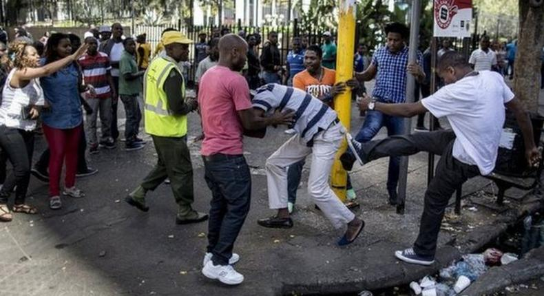 Xenophobic attacks on African migrants in South Africa