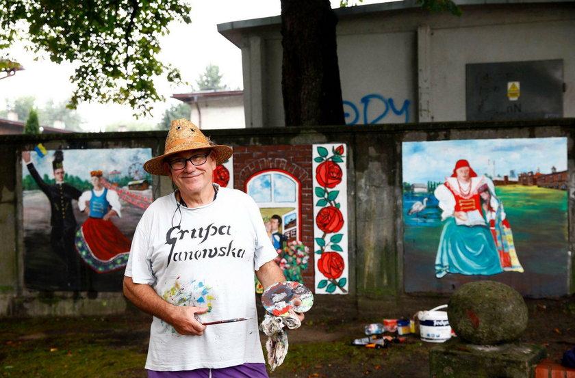 Katowice. Mural w Nikiszowcu na cześć artystów z Grupy Janowskiej