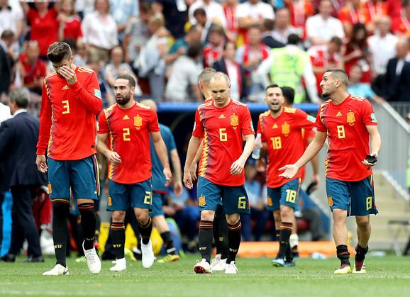 Španci posle eliminacije od Rusije