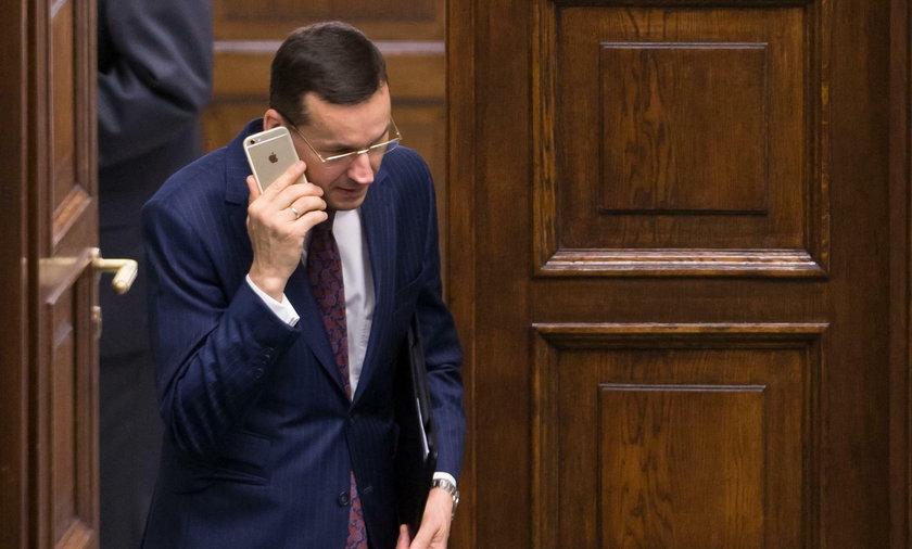 Telefon od szefa rządu. Morawiecki był poruszony