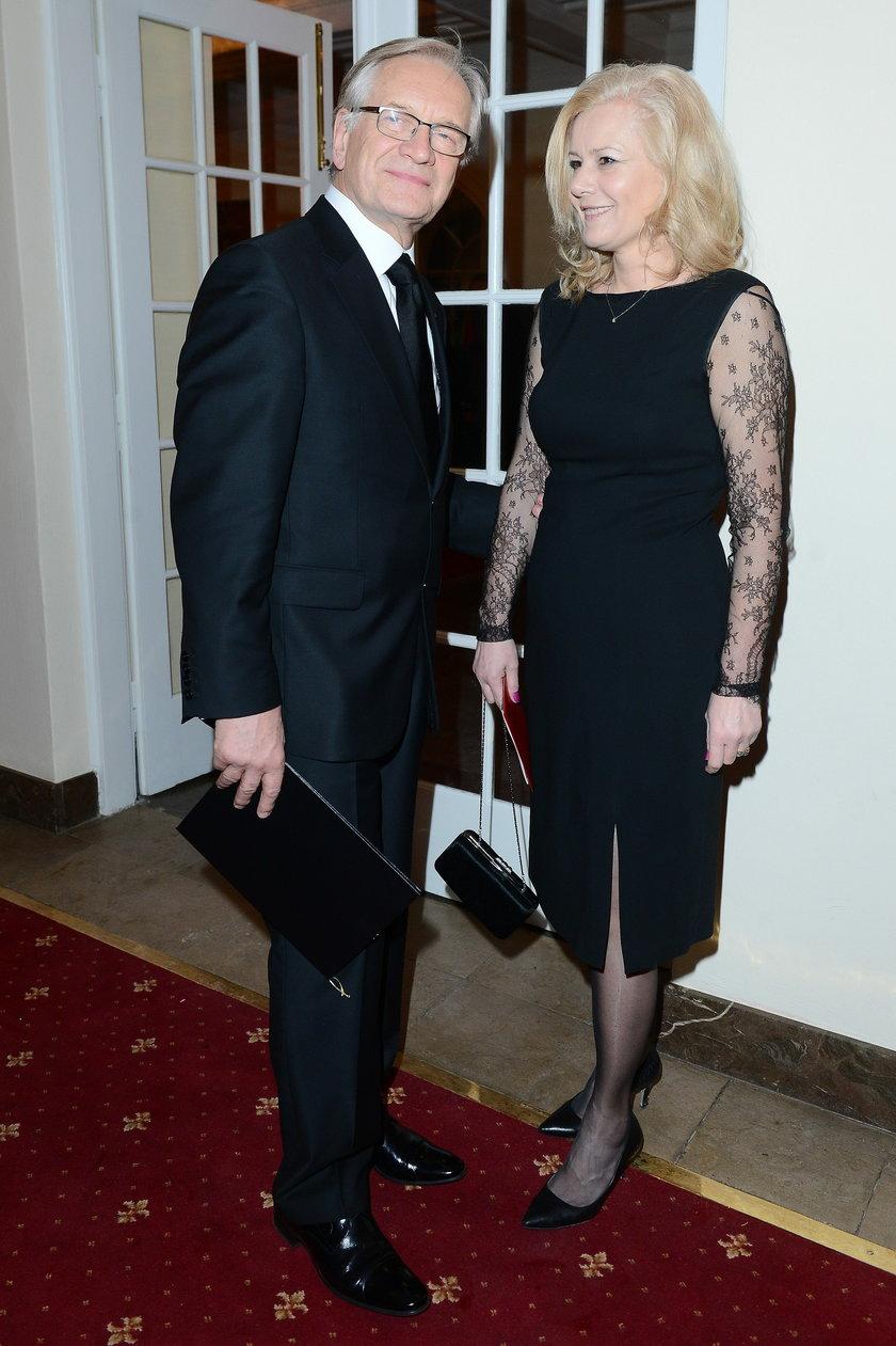 Andrzej Seweryn z żoną