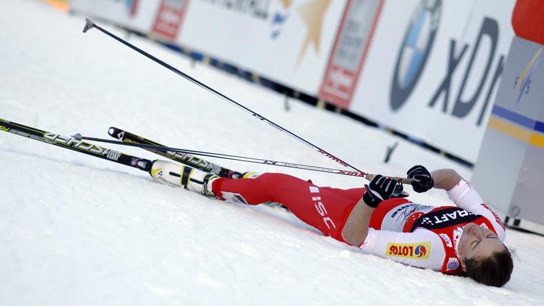 Do niedzielnego biegu na 9 km techniką dowolną Polka przystępowała z przewagą ponad dwóch minut nad drugą w klasyfikacji generalnej Norweżką Therese Johaug
