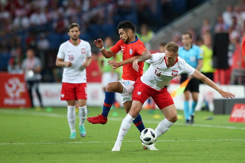 Pilka nozna. Reprezentacja. Mecz towarzyski. Polska - Chile. 08.06.2018