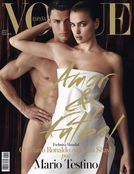 "Cristiano Ronaldo i Irina Szejk na okładce ""Vogue"""