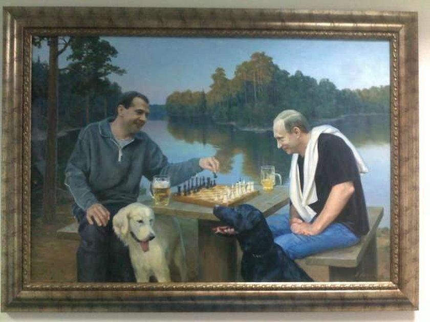 Prezydent i premier przy szachach