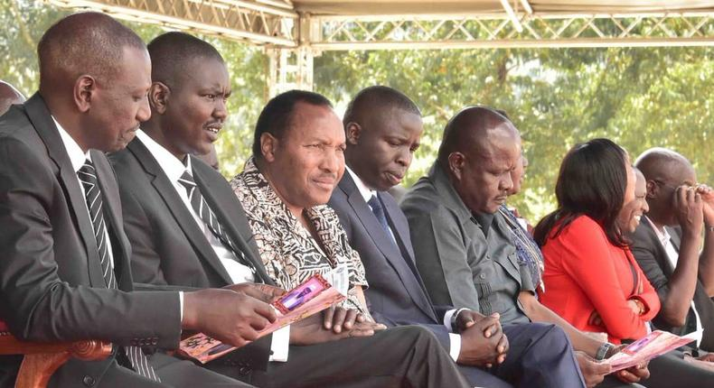 File image of DP William Ruto, Governor Jackson Mandago, Ferdinand Waititu, Stephen Sang and MP Justus Kizito Sang has called for thorough investigations into an alleged plot to assasinate the DP