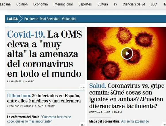 Udarna informacija i na španskom