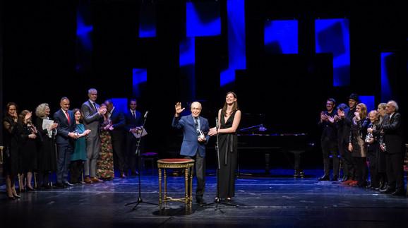 Renato Balestra i Vesna Jugović sa ostalim laureatima i prezenterima za 2018.