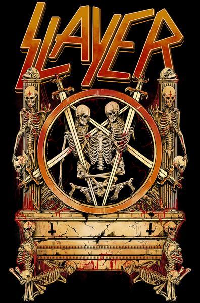 """Grafika Rafała """"Wechtera"""" Wechterowicza dla grupy Slayer"""