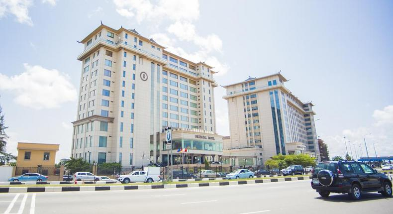 A front view of Lagos Oriental Hotel
