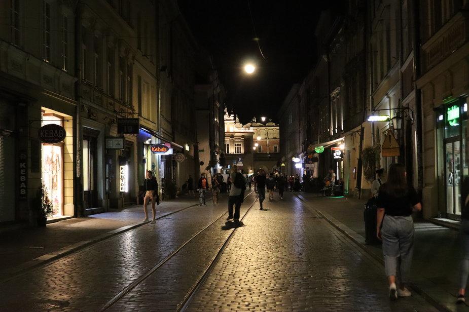 Kraków nocą 13 sierpnia br.