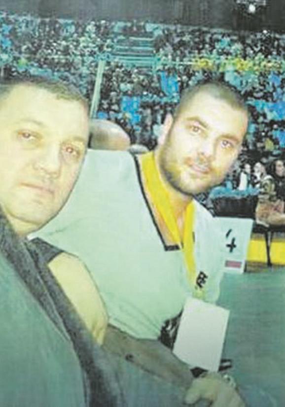 Vlada Pop i Vojkan Kostić na boks meču