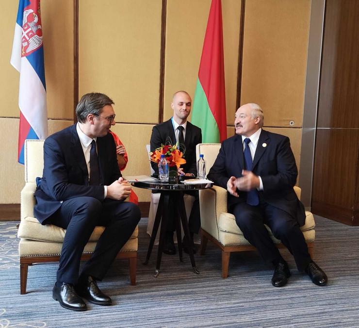 Aleksandar vučić sa Aleksandrom Lukašenkom