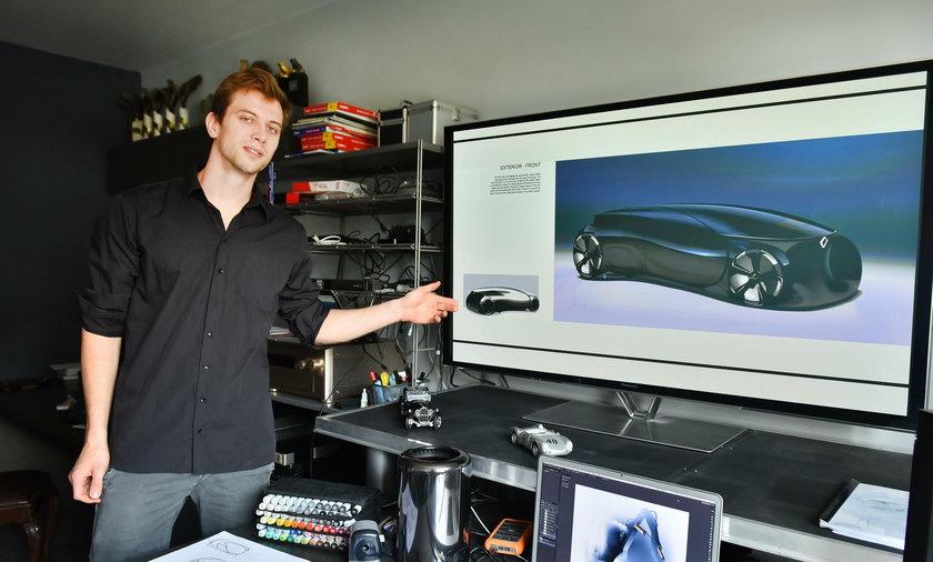 MIchał Ptak zaprojektował samochód dla Renault