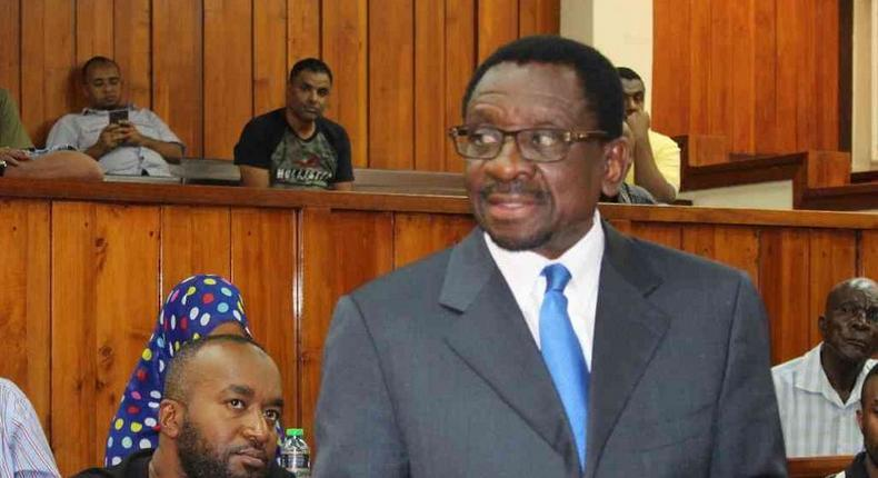 Senator James Orengo during a past presentation in court