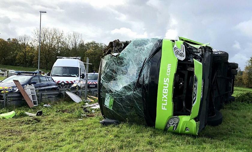 Wypadek Flixbusa we Francji. 33 osoby poszkodowane