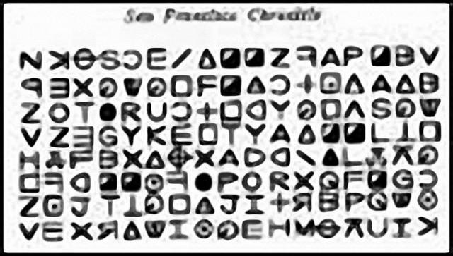 Jedna od Zodijakovih šifrovanih poruka