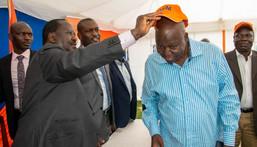 Jakoyo Midiwo and Raila Odinga