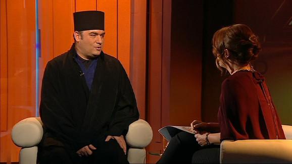 Bojan Jovanović, otac Serafim, u razgovoru sa voditeljkom Tanjom Vojtehovski