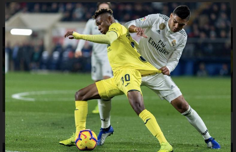 Samuel Chukwueze was a menace to the Real Madrid defence all through the game