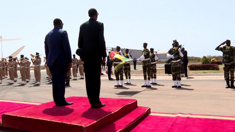 President Paul Kagame  in Senegal to attend the swearing in of President Macky Sall (Youtube/Paul Kagame)