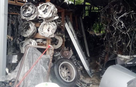 Delovi ukradenih automobila