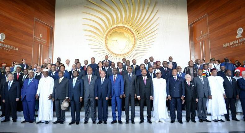 African leaders at 32nd AU Summit