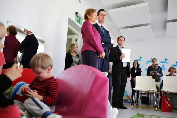Lena Kolarska-Bobińska i Władysław Kosiniak-Kamysz podczas briefingu prasowego