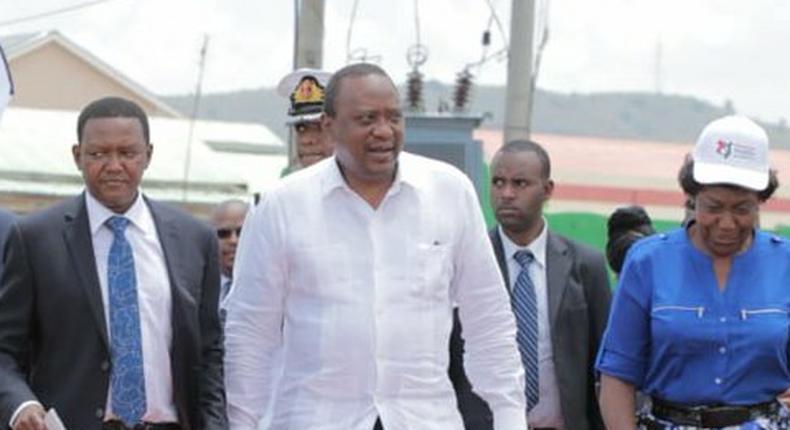 President Uhuru Kenyatta received in Masii for the launch of NIIMS registration (PSCU)