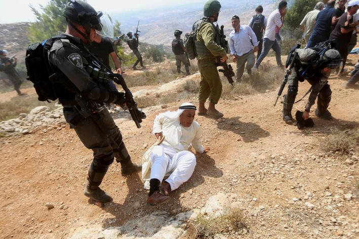 Protest Against Israeli Settlement Construction in the West Bank