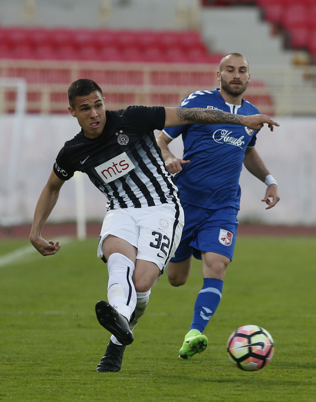 Strelac gola za Partizan: Uroš Đurđević