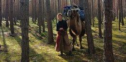 Niezwykła podróż Francuzki przez Polskę. Robi to dla wielbłąda