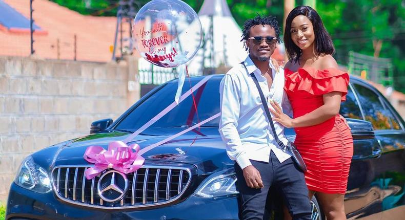 Diana Marua gifts hubby Bahati brand New Mercedes Benz on Valentine's Day (Photos)