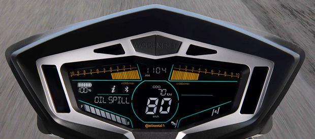 Projekt interaktywnej deski rozdzielczej Continentlal dla motocyklistow