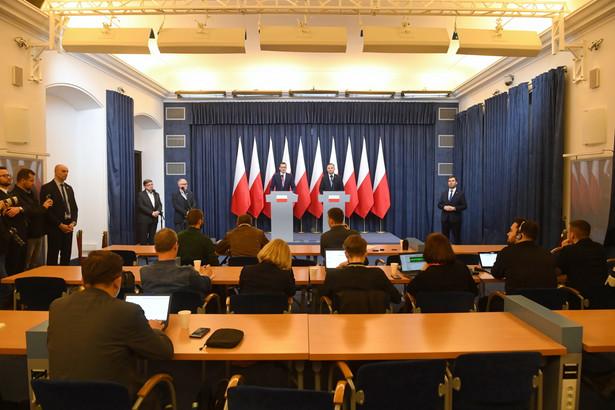 Konferencja prasowa Andrzeja Dudy