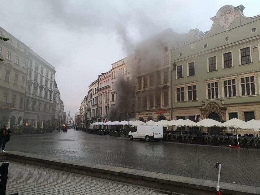 Pożar restauracji Wierzynek w Krakowie