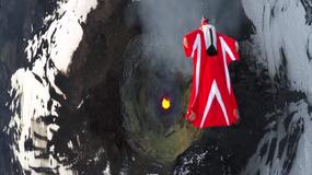 Ekstremalne wideo - kobieta szybuje nad najbardziej aktywnym wulkanem kontynentu