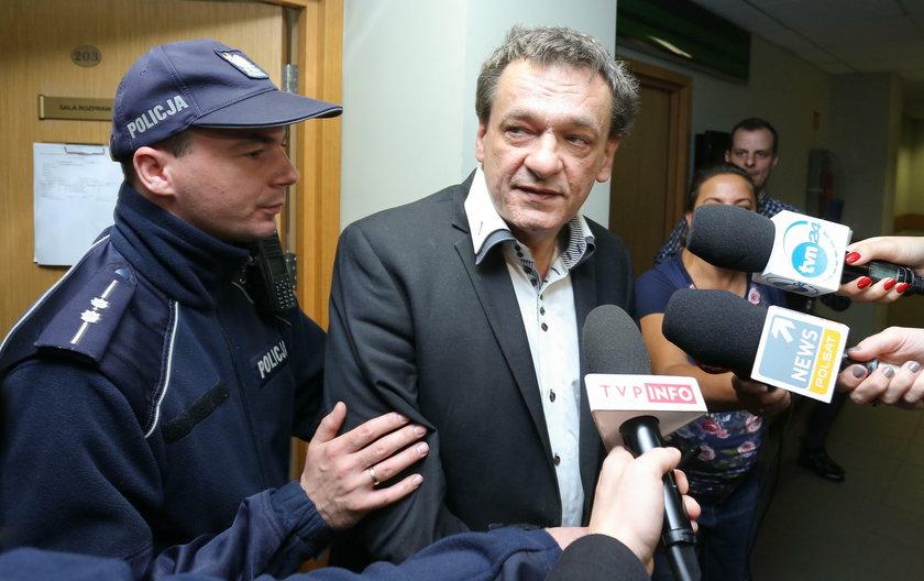 Piotr Tymochowicz podczas rozprawy sądowej