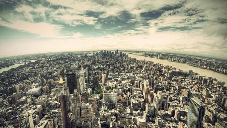 USA, Nowy Jork, panorama Manhattanu