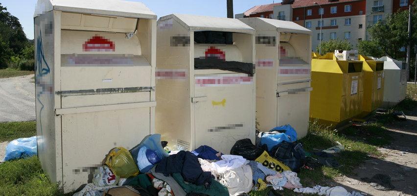 Problemy z kontenerami w całej Polsce, a mało osób wie, gdzie tak naprawdę trafia ta odzież!