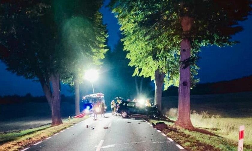 23-latek zginął w wypadku pod Trzcianką.