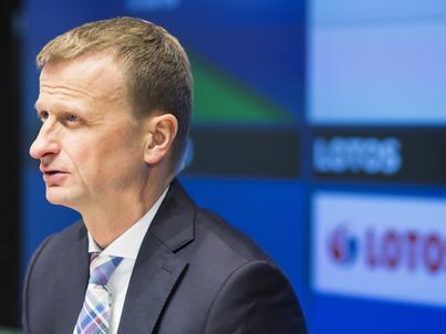 Prezes Grupy Lotos Marcin Jastrzębski