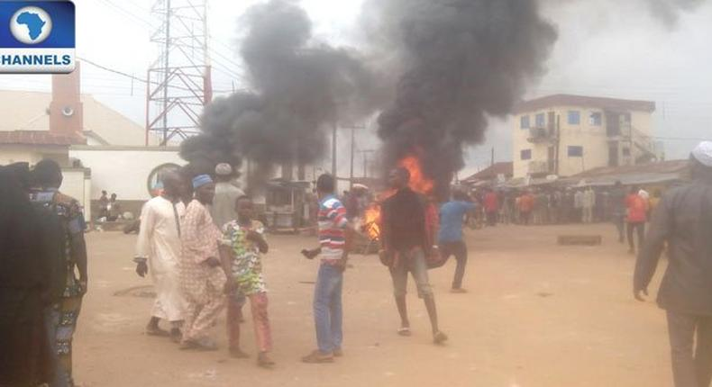 Riot in Ile-Ife, Osun State on March 8, 2017.