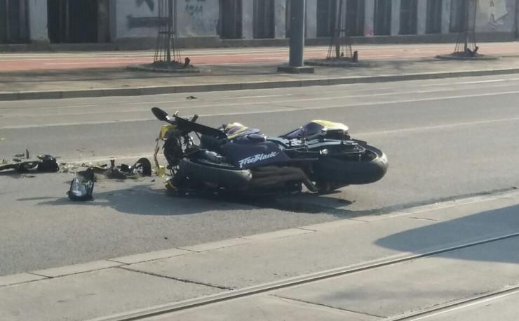 Oboren motociklista kod Bogoslovije