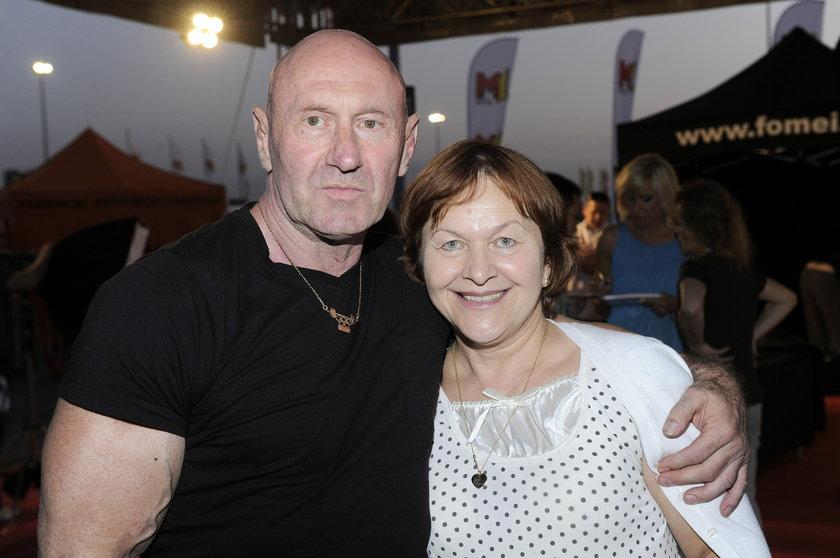 Paweł Rabczewski z żoną