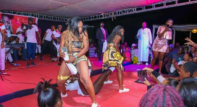 Images from Akothee's show in Mombasa