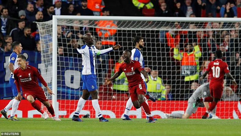 Naby Keita opened scoring for Tottanham against Porto  (Reuters)