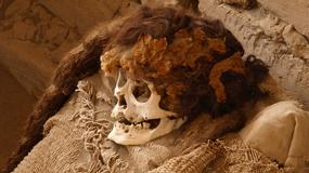 Przerażające mumie na cmentarzu Chauchilla w Peru