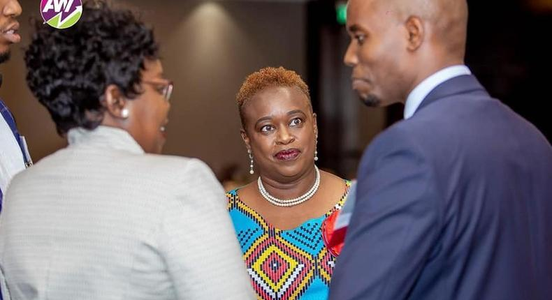 Africa Women Investors (AWI): Dr-Lucy N McKenzie with Immediate former Capital Markets Authority  CEO, Paul Muthaura and Dr Agnes Odinga - Chair AWI at a past event. (Facebook)